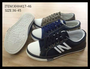 Latest Injection PU Canvas Shoes Casual Skate Shoes (XHH417-46) pictures & photos