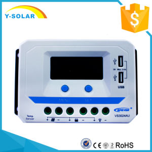 Epsolar 30A 12V/24V LCD Solar Charge/Charging Controller Dual USB/2.4A Vs3024au pictures & photos