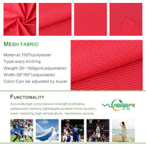 Polyester/Nylon/Spandex Mesh Fabric for Shoes/Clother/ pictures & photos