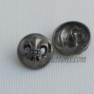 Different Shape Gun Black Metal Shank Buttons for Garment pictures & photos