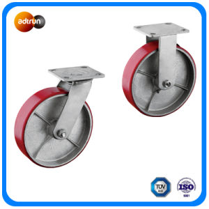 PU Iron Wheel Heavy Duty Plate Casters pictures & photos