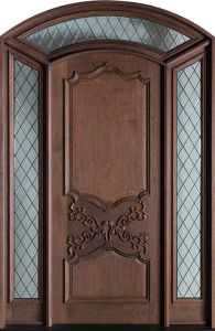 Antique Arts Crafts 1d+2SL Wood Home Exterior Door (GSP1-032) pictures & photos