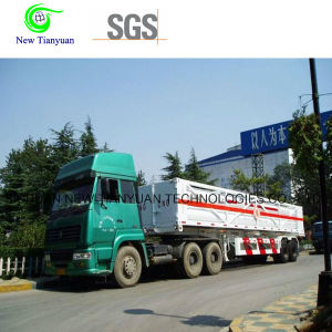 10-Tube Skid Container Semi-Trailer for CNG Transportaion pictures & photos