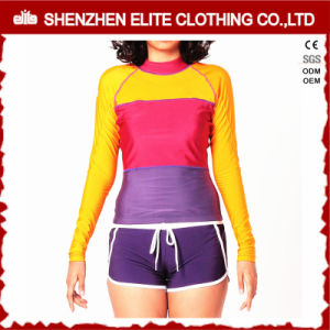 Women′s Custom Printed Compression Spandex Rash Guard (ELTRGJ-273) pictures & photos