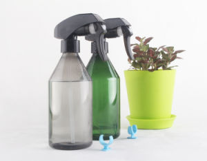 300ml Pet Plastic Water Flowers Hair Bottle with Trigger Sprayer pictures & photos