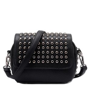 Studded Flap Gusset Rivets Casual Crossbody Bag pictures & photos
