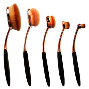 5 PCS Oval Toothbrush Shape Makeup Brushes Set Cosmetic Tools Kit pictures & photos