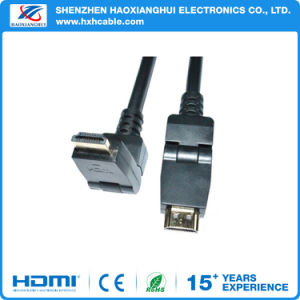 1.4V Rotating Right Angled Male to Male 4k HDMI Cable pictures & photos