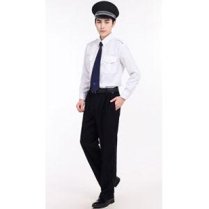 Cotton White Shirts and Black Pants Security Guard Uniform Sets pictures & photos