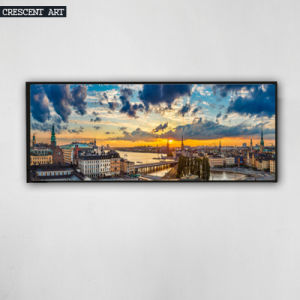 Downtown Skyline Canvas Art Print From Photos pictures & photos