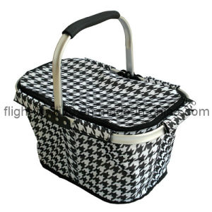 Outdoor Camping Foldable Shopping Basket with Aluminum Frame Handles pictures & photos