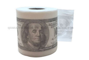 Custom Creative Advertising Dollar Tissue Toilet Roll Paper for Promotion pictures & photos