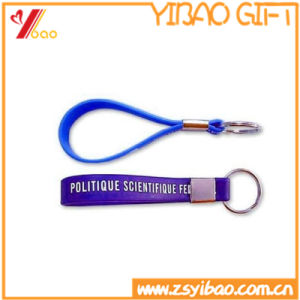 Custom Printing Logo Silicone Key Chain pictures & photos
