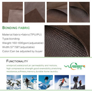 Jiaxing Textile Factory Polyester Microfleece Bonded Fabric for Climbing Wear pictures & photos