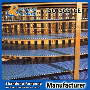 Food Cooling Spiral Conveyor / Modular Belt Screw Conveyor System Spiral Cooling Conveyor pictures & photos