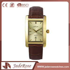 Customize Rectangle Women Leather Wrist Watch pictures & photos