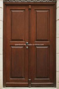 Low Price China Factory Wood Grain Double Steel Door pictures & photos