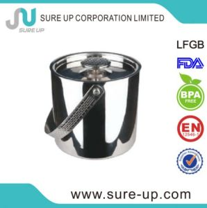 High Quality Stainless Steel Ice Bucket with Handle pictures & photos