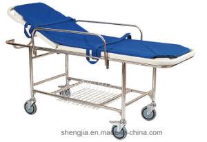 Sjm016 Plastic Bed Base Stretcher Cart with Four Castors