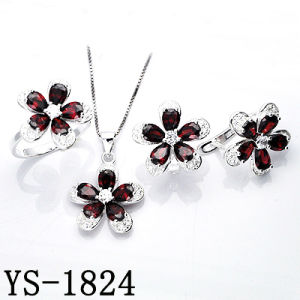 Fantasy Jewelry 925 Silver Sapphire Blue Flower CZ Sets pictures & photos