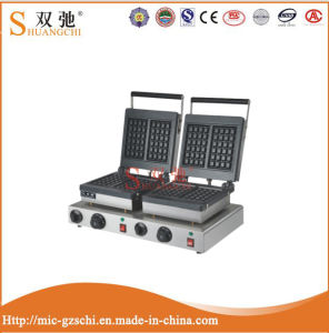 2016 High Quality Double Head Square Type Electric Waffle Machine pictures & photos