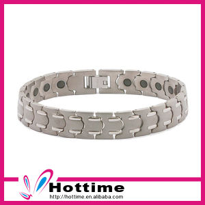 Hottime Fashion Jewelry Magnetic Stainless Steel Silver Bracelet (CP-JS-BL-077) pictures & photos