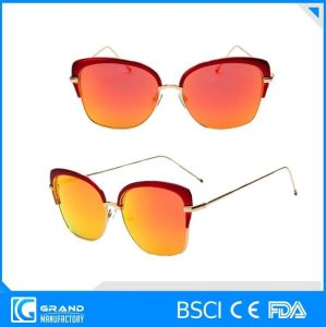 Magnetic Polarized Lens Eyewear Metal Frame Sunglasses for Women pictures & photos