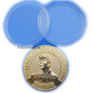 Coin with Round Plastic Box