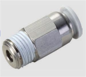 Popular Plastic Push in Fitting Pneumatic Quick Connection Elbow Air Vacuum Tube Hose Fitting Stop Fittings pictures & photos