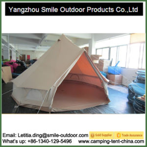 9-12 Persons Big Cold-Proof Waterproof Cotton Canvas Bell Tent pictures & photos