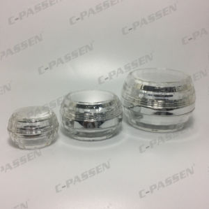 Cosmetic Packaging Crystal Silver Acrylic Cream Jar Lotion Bottle (PPC-NEW-090) pictures & photos