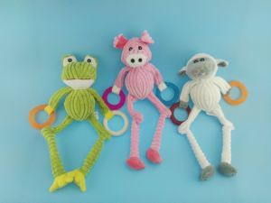 Long Leg Cutton Rope Piggy Toy with Rubber Ring pictures & photos