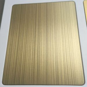 Gold Bronze Grey Color Stainless Steel Sheets for Decoration Matt Anti-Fingerprint pictures & photos
