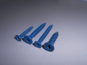 Blue Ruspert Flat Head Concrete Screw pictures & photos
