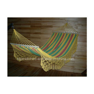 Wholesale Best Price Full Size Hanging Hammock with Wooden Stick pictures & photos