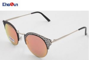 Lady′s New Fashion Sunglasses Metal Bridge Acetate Sunglasses Ks1280 pictures & photos