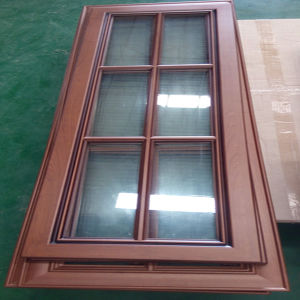 PVC Kitchen Cabinet Door with Glass (KC-050) pictures & photos