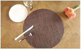 European Tasteless Green Insulated Mat Waterproof PVC Stripe Table Mat pictures & photos