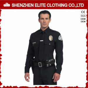 High Quality Embroidery Police Black Police Uniform (ELTHVJ-290) pictures & photos
