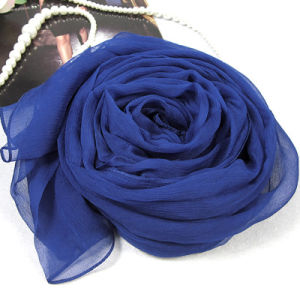 Multicolor 100% Pure Silk Georgette Long Scarf for Women in Autumn pictures & photos