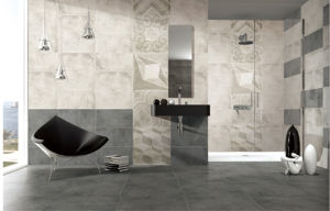 Concrete Cement Style Glazed Porcelain Floor Tile for Floor and Wall (FN01) pictures & photos