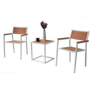 Patio Outdoor Furniture Aluminum Plastic Wood Arm Chair Table (J814) pictures & photos