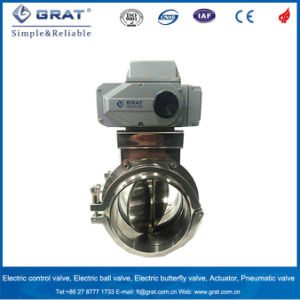 Clamp Type Ss Electric Motorized Butterfly Valve for Food Industry pictures & photos