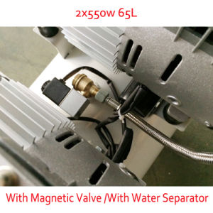 2X550W 65L with Double Pressure Gage Magnetic Valve DC Screw Air Compressor pictures & photos