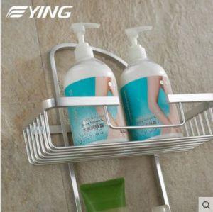 Space Aluminium Series Square Double Shelf Bathroom Shower Shelf pictures & photos