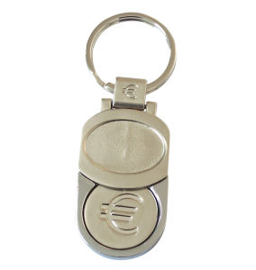 Metal Shopping Trolley Coin Key Chain pictures & photos
