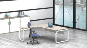 White Customized Metal Steel Office Executive Table Leg Ht75-2 pictures & photos