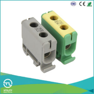 Large Current Al/Cu DIN-Rail Jut10-50/2 Universal Terminal Block pictures & photos