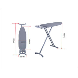 Hotel Room Heat Resistant Ironing Board with Height Adjustment 83cm pictures & photos