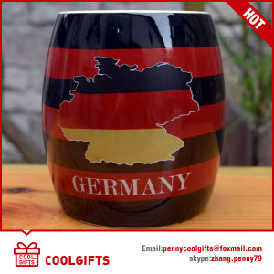 Custom Big Capacity Beer Ceramic Mug with Flag Logo (CG221) pictures & photos